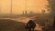 İBB ekipleri Kemerköy Termik Santrali çevresindeki yangınlara da müdahale etti