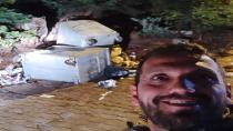 Uludağ'da bir vatandaş aç kalan ayı ile özçekim yaptı